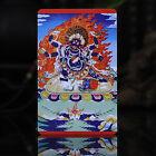 Tibet+Tibetan+Buddhism++Exquisite+painting+Amulet+thangka+Black+six+arm+Mahakala