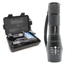 G4 1x T6 CREE LED Flashlight 5 Modes Camping Hiking Torch Rechargeable Battery