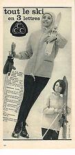 PUBLICITE ADVERTISING 064  1963  CCC   vetements de ski 2