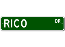 RICO Street Sign - Personalized Last Name Sign