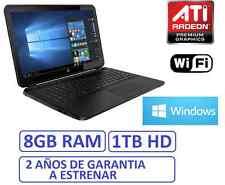 "Ordenador portatil HP 15"" GAMA2017 8Gb RAM HD 1Tb ATI RADEON R2 1696MB WINDOWS"