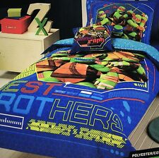 NEW LICENSED TMNT NINJA TURTLES SINGLE BED QUILT/DOONA COVER SET - BEST BROTHERS