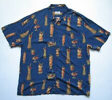 REYN SPOONER MENS XL MIX IT UP rayon BUTTON CAMP HAWAIIAN COCKTAIL DRINKS SHIRT