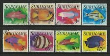 1977 Suriname Stamps Fish SG 875/82 Set 8 FU
