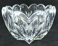 Marquis by WATERFORD Crystal Bowl Trinket Dish with Hearts Scalloped Edge Signed