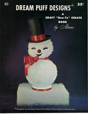 Dream Puff Designs Christmas Holiday Figures Decor VTG Craft Instruction Book