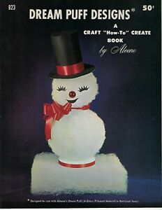 Dream Puff Designs Christmas Holiday Figures Decor VTG Craft Instruction Book