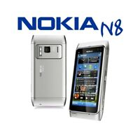 "TELEFONO CELLULARE TOUCHSCREEN NOKIA N8 SILVER 3,5"" 3G WIFI HDMI CARL ZEISS-"