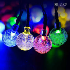 5M 30 LED Crystal Ball Waterproof Solar Power String Rope Outdoor String Lights
