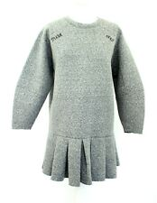 Stylenanda Minimal Oversized Grey Pleated Warm Sweatshirt Dress One Size