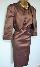 PLANET Bronze Dress & Jacket Size 16 Cocktail Wedding Mother of the Bride