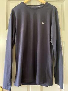 Armani Jeans Navy Mens Long Sleeve Tee Shirt Size XL