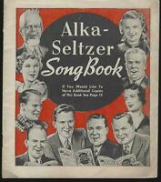 Alka-Seltzer Song Book by Miles Laboratories Singers and Their Songs Illustrated