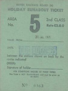British Railways Board HOLIDAY RUNABOUT Ticket MIDLAND REGION AREA 5 0363