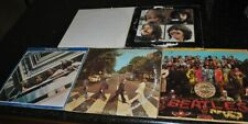 BEATLES LOWER GRADE VINYL 5 LP RECORD ALBUM LOT: SGT PEPPER/ABBEY ROAD/LET IT BE