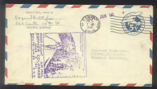 1931 FIRST FLIGHT US AIR MAIL - Kansas to Colorado - Nice Color & cancels!