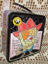 EINSTEIN BROS BAGELS Official Cowboy Theme Metal LunchBox Vintage NOS 2002 Works