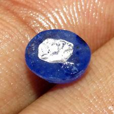 Fabulous 2.65Ct. Natural Oval Cut Transparent Blue Sapphire Sri Lanka Gem-CH6847