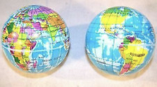 2 World 3 In Globe Bounce Stress Squeeze Balls maps globes school bouncing toy