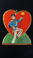 Vintage Drum Major Valentine Card c. 1940s