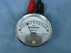 Triplett Panel Meter -25-0+25 microamps Full Scale