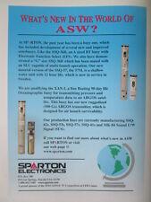 1998 PUB SPARTON ELECTRONICS SONOBUOY ASW US NAVY XAN-1 BUOY ORIGINAL AD
