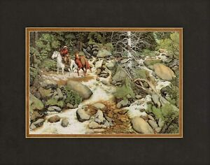Bev Doolittle The Forest Has Eyes Matted Print fits a standard 11x14 ready frame