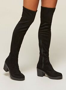 Miss Selfriges KYLIE Black Over The Knee Boots Size UK 5 EU 38 NH094 HH 05