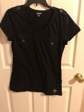 Southpole Black T-Shirt Top Juniors XXL Women @9