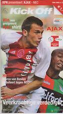 Programme / Programma Ajax Amsterdam v NEC Nijmegen 15-01-2006