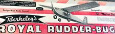 BERKELEY ROYAL RUDDERBUG PLAN + ORIGINAL BUILDING ARTICLE for RC Model Airplane