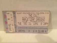 The Cult Concert Ticket Stub 12-31-1991 Toronto