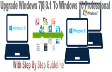 UPGRADE MICROSOFT WINDOWS 7|8|8.1 TO 10 PRO PROFESSIONAL LICENCE KEY 32/64