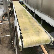 Large roller conveyor with belt