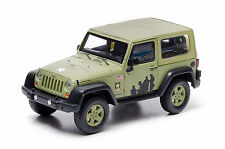 2012 Jeep Wrangler Us Army Hard Top in Light Green 1:43 Scale Diecast Greenlight