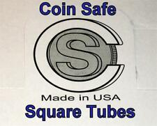 COIN SAFE- Made in America FIFTY You Pick-Assorted Sizes SQUARE Tubes 50