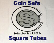 TWENTY (20) You Pick-Assorted Sizes SQUARE Tubes - COIN SAFE- Made in America