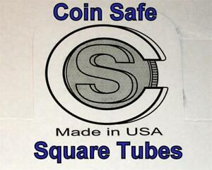 20 CoinSafe Square Tubes Assorted Sizes-You Pick-  - COIN SAFE- Made in America