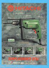 QUATTROR992-PUBBLICITA'/ADVERTISING-1992- HITACHI - FDV 15V TRAPANO PERCUSSIONE