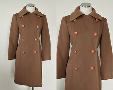 1940s Vintage | Khaki Tan 100% Wool Mid-Century Modern Overcoat Jacket | Med/Lg