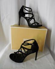 Michael Kors Platform Sandals 11 Black Suede Stiletto Heel Sandra