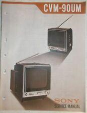 SONY CVM-90 UM video monitor Manual Schaltplan ORIGINAL ca 22 Seiten von 1969