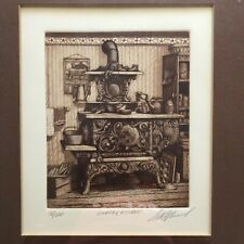 """""""COUNTRY KITCHEN"""" SIGNED SCOTT FITZGERALD ETCHING 76/200 LIMITED ED FRAMED ART"""