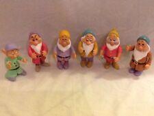 Vintage Disney Snow White Six Dwarfs Plastic Figure Set Thailand