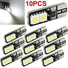 10x CANBUS ERROR FREE LED White T10 168 194 W5W Wedge 4 SMD 5050 Light bulb NEW