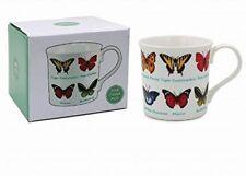 Gift Boxed Fine China Full Colour Mug - Butterflies - Swallowtail - Mimic