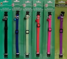 Cat Collars Spandex Quick-Release Buckle Adjustable Bell, Select: Collar Color