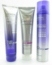 L'Oreal EverStyle Dry Shampoo, Tousle Cream & Curl Defining Gel *Triple Pack*
