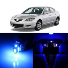 10 x Blue LED Interior Lights Package For 2004 - 2009 Mazda 3 MS3 + PRY TOOL