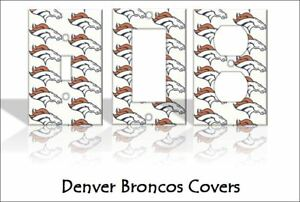 Denver Broncos Light Switch Covers Football NFL Home Decor Outlet